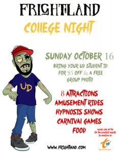 college night at Frightland Haunted House in Delaware