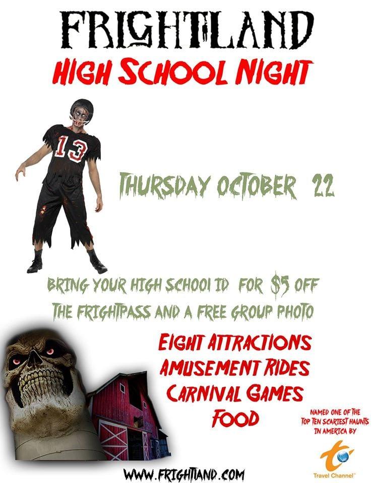 Frightland High School Night