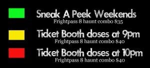 Frightland calendar legend