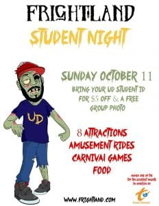 Frightland Haunted Attractions / Houses presents College Student Night