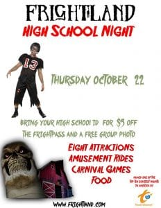 Frightland High School Night