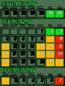 Frightland 2015 Calendar