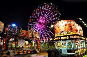 Frightland has multiple haunted houses and a hayride and a full amusement carnival for our Baltimore Maryland guests.