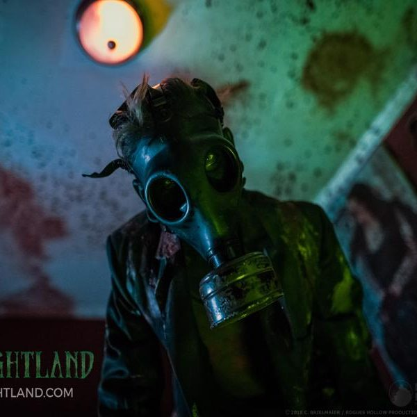gas mask man close