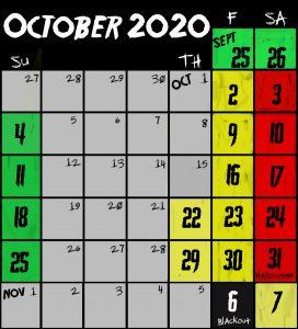 Frightland Calendar 2020