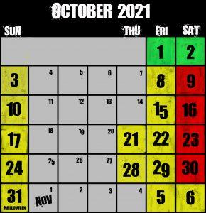 Frightland Calendar 2021